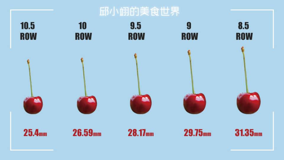 樱桃ROW尺寸图
