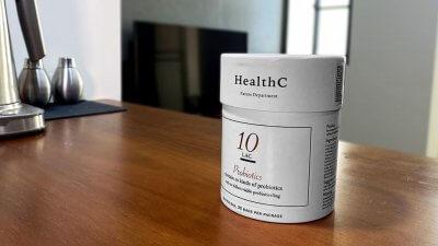 設計成筒狀包裝盒的HealthC益生菌